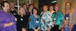 Nancy, Barbara, Mary, Carol, Lynne, Gloria, Kay, Phyllis, Jean, Christine (and daughter)